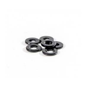SCHELLE BLACK BALLSTUD WASHERS 1.0mm THICK (6)