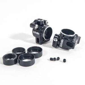 SCHELLE B64/B64D ALUMINIUM REAR HUBS - BLACK