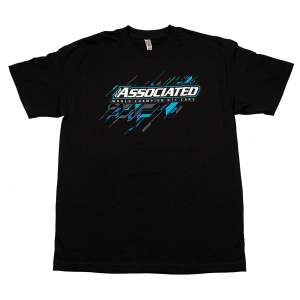 ASSOCIATED AE 2017 WORLDS TEE (T-SHIRT) BLACK (LARGE)