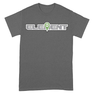ELEMENT RC LOGO T-SHIRT GREY SMALL