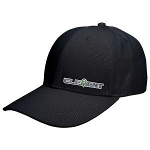 ELEMENT RC HAT/CAP CURVED BILL BLACK