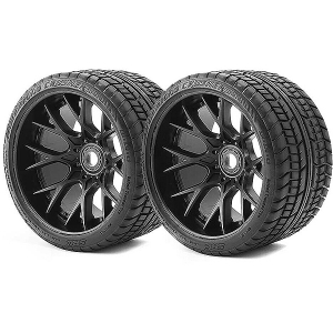 SWEEP ROAD CRUSHER BELTED TYRE BLACK 17MM WHEELS 1/2