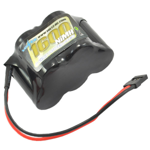 Voltz 1600Mah 6.0V NiMH RX Hump Battery w/ JR Plug