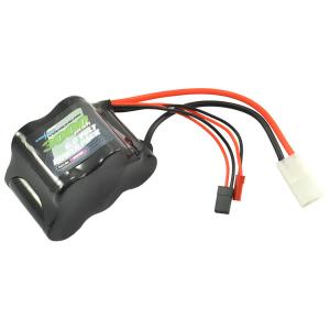 Voltz 3000Mah 6.0v Receiver Sub-C Pack Hump Battery W/Bec/Jr Plug
