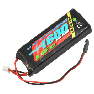 VOLTZ 1600mah 2S 6.6V RX LiFe STRAIGHT BATTERY PACK