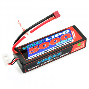 VOLTZ 5000mah 2S 7.4V 50C HARDCASE LiPO STICK BATTERY PACK