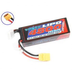 VOLTZ 4800mah HARD CASE 22.2V 50C LIPO STICK PACK XT90