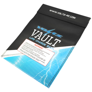 VOLTZ CHARGE VAULT LIPO SACK/BAG LARGE 23cm x 30cm